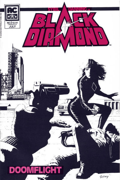 BLACK DIAMOND #2 (AC Comics, 1983) NM! ~ Sybil Danning