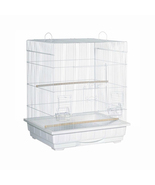 Prevue Hendryx Square Roof Parakeet Cage - White 961-PP-25212-W - $147.62