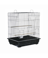 Prevue Hendryx Square Roof Parakeet Cage - Black 961-PP-25212-B - $170.79