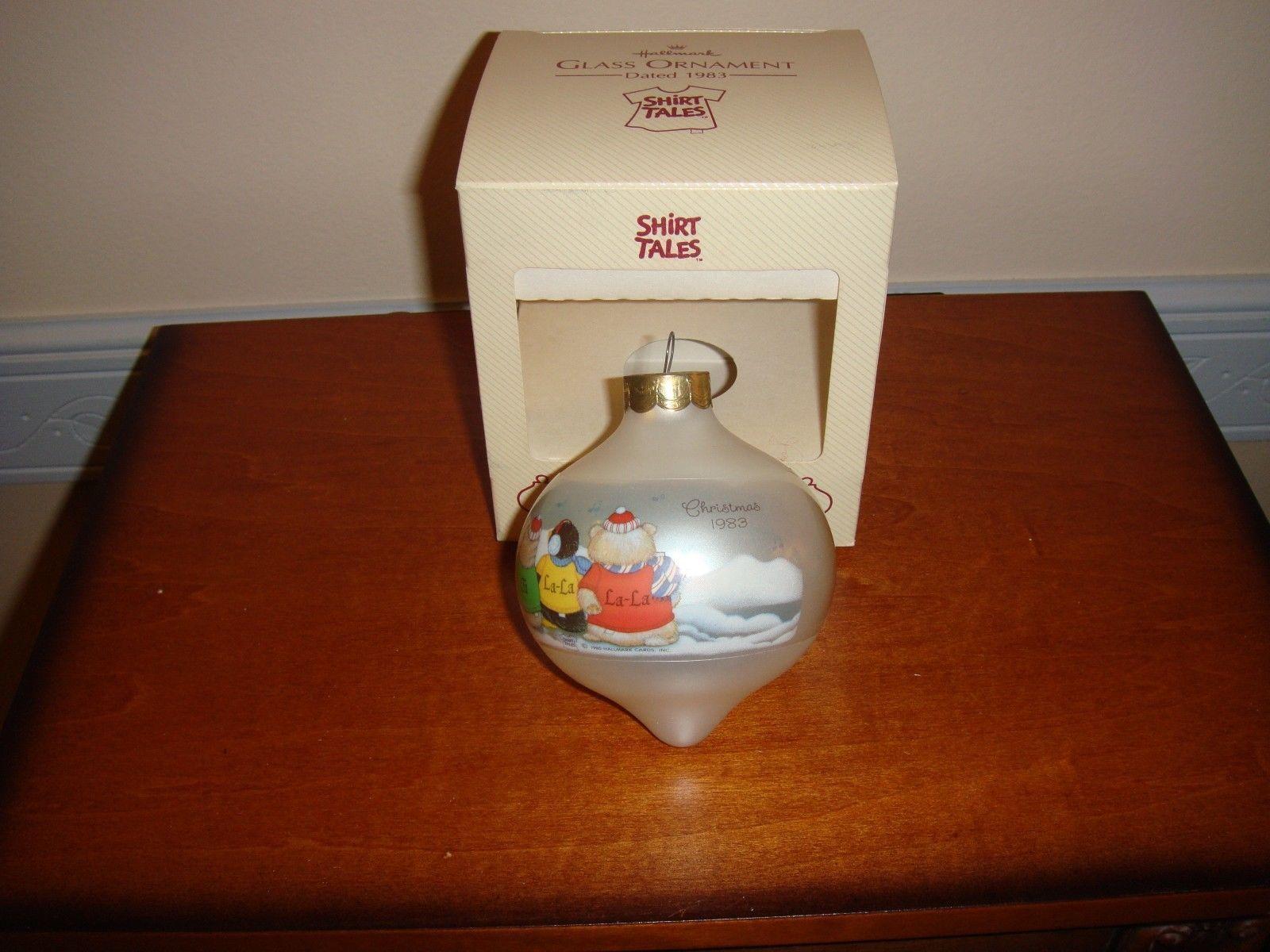 Hallmark 1983 Shirt Tales Glass Ornament