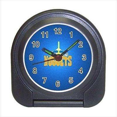 Denver Nuggets Compact Travel Alarm Clock (Battery Included) - MLB Baseball