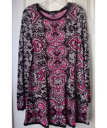New Style & Co. Printed Fit & Flare Jersey Sweaterdress Multi Color Size L - $32.04
