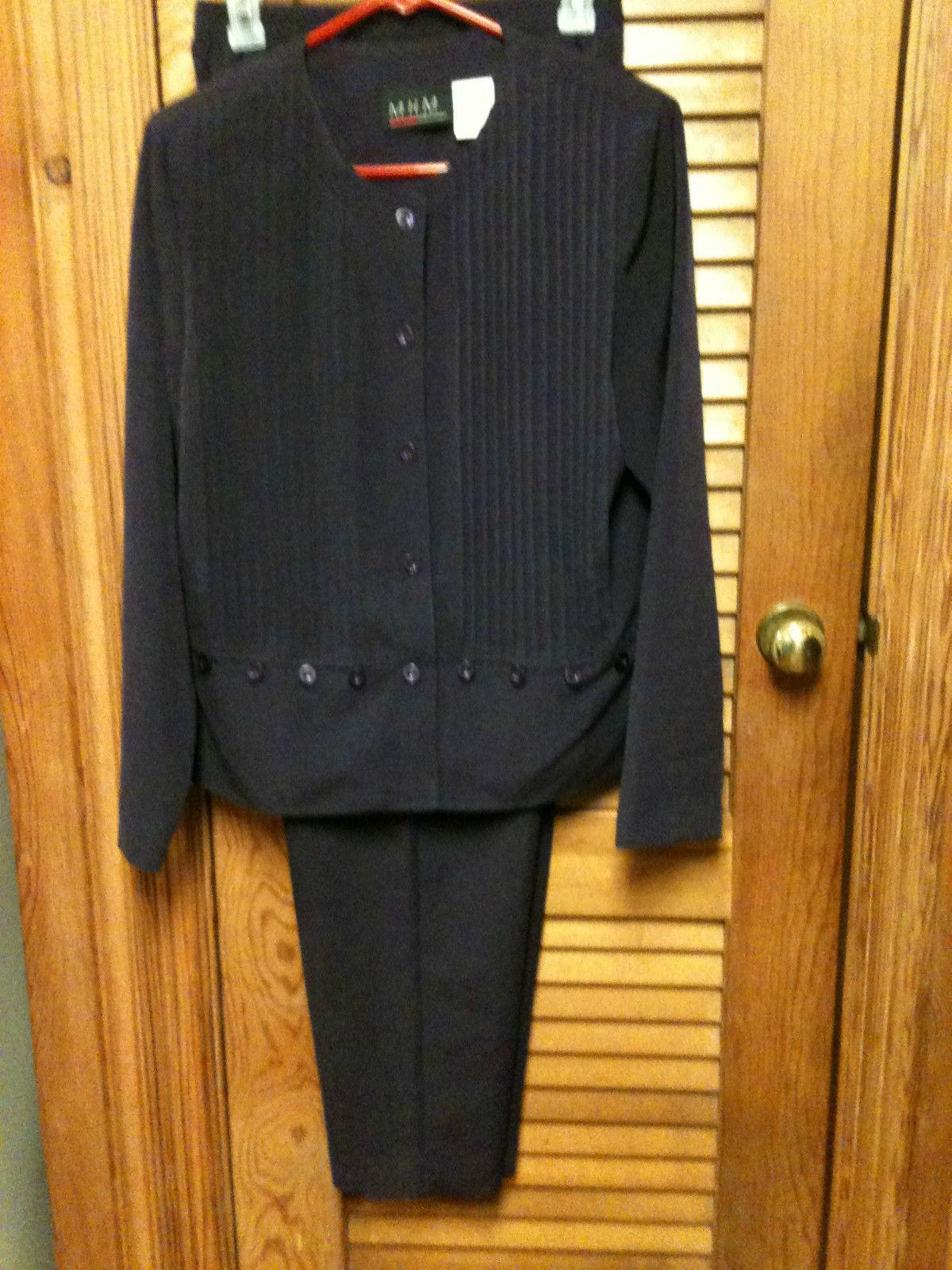 M.H.M.Melissa Harper 2 Pc Purple/Wine Pants Suit- Size 10
