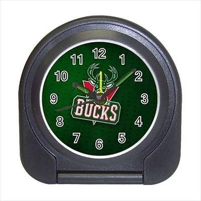 Milwaukee Bucks Compact Travel Alarm Clock (Battery Included) - NBA Basketball
