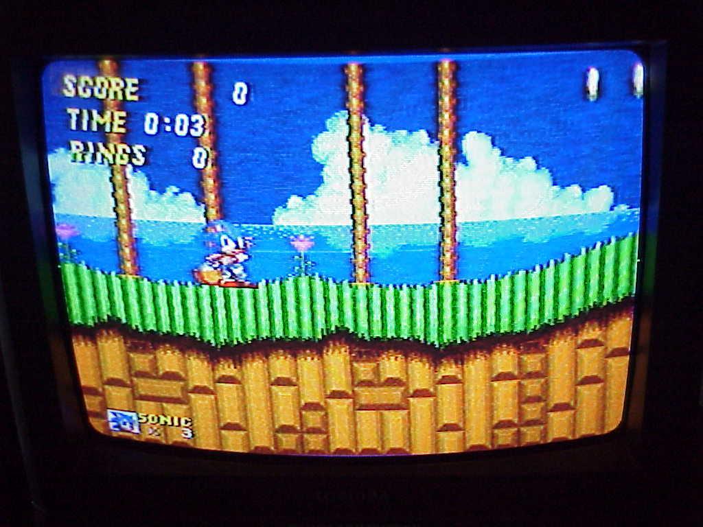 Sega Genesis Sonic the Hedge Hog 2 Mega Drive 16-Bit Game Cartridge, tested