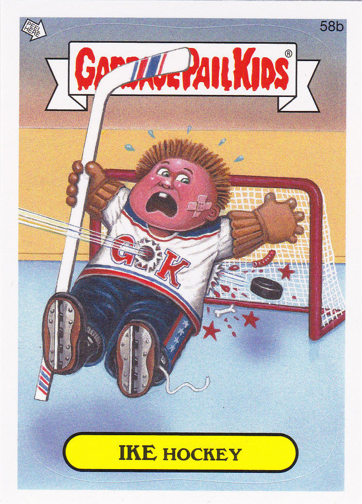 """2014 GARBAGE PAIL KIDS 1ST SERIES """"IKE HOCKEY"""" CARD #58b ONLY 99 CENTS!"""