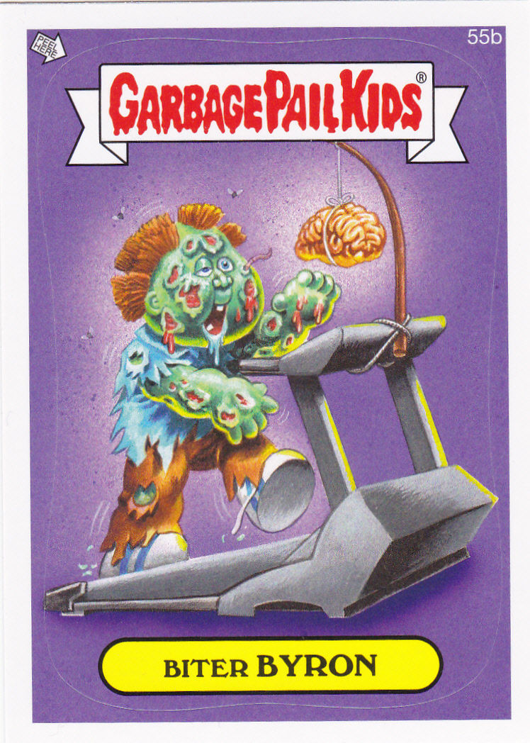 """2014 GARBAGE PAIL KIDS 1ST SERIES """"BITER BYRON"""" CARD #55b ONLY 99 CENTS"""