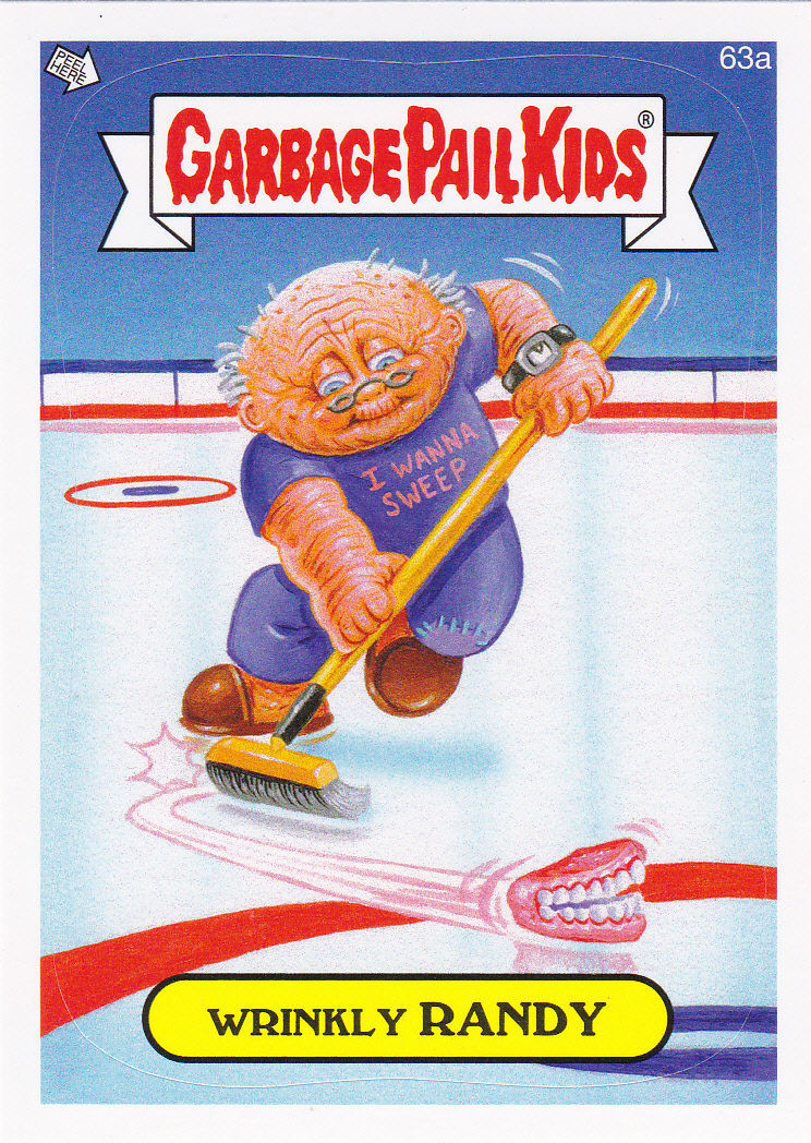 """2014 GARBAGE PAIL KIDS 1ST SERIES """"WRINKLY RANDY"""" CARD #63a ONLY 99 CENTS!"""