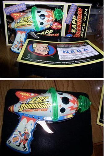 Futurama  Zap Brannigan  Atomic Ray Gun Tin Toy