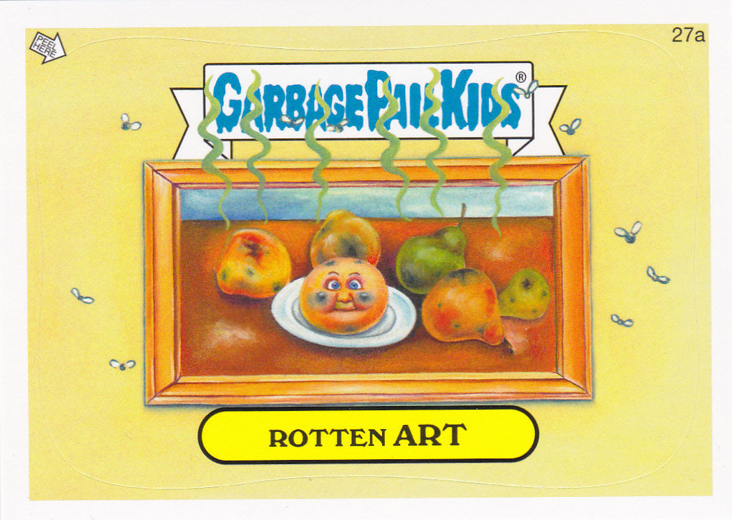 "2014 GARBAGE PAIL KIDS 1ST SERIES ""ROTTEN ART"" CARD #27a ONLY 99 CENTS!"
