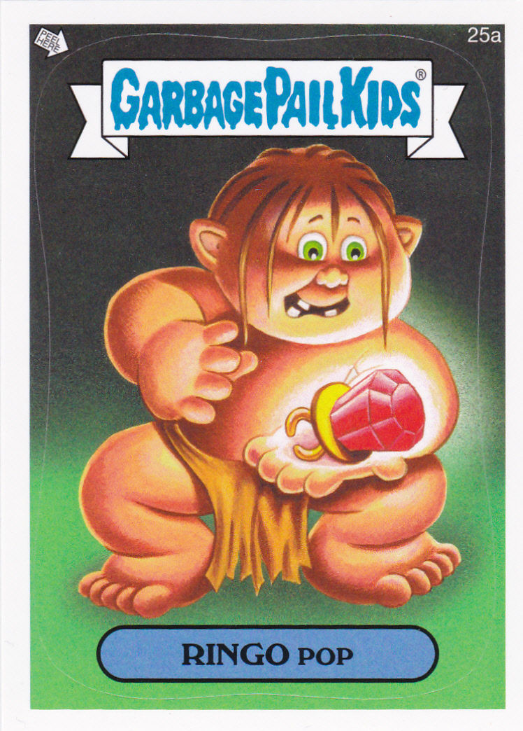 """2014 GARBAGE PAIL KIDS 1ST SERIES """"RINGO POP"""" CARD #25a ONLY 99 CENTS!"""