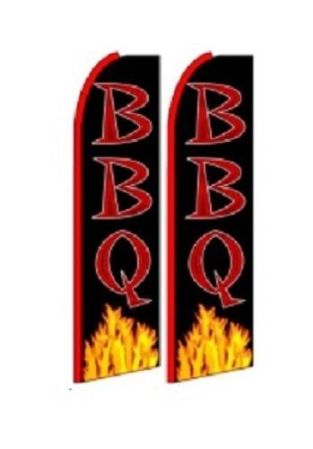 BBQ King Size Polyester Swooper Flag pk of 2