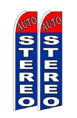 Auto Stereo  King Size Polyester Swooper Flag pk of 2