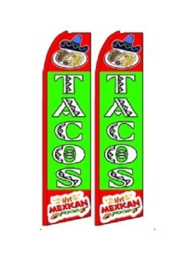 Tacos King Size Polyester Swooper Flag pk of 2