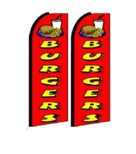 Burgers King Size Polyester Swooper Flag pk of 2