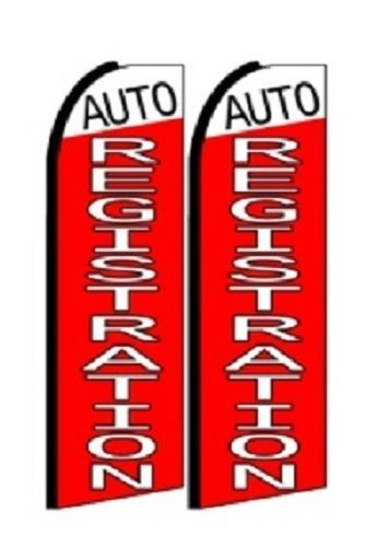 Auto Registration King Size Polyester Swooper Flag pk of 2