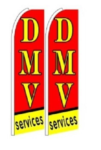 DMV Services King Size Polyester Swooper Flag pk of 2