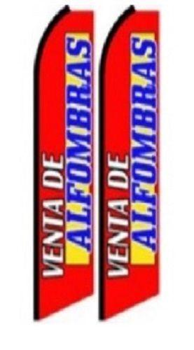 Venta De Alfomibras  King Size Polyester Swooper Flag pk of 2