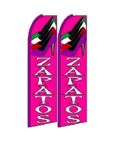 Zapatos  King Size Polyester Swooper Flag pk of 2