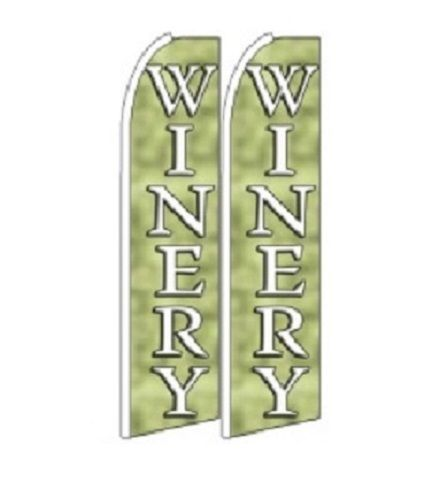 Winery King Size Polyester Swooper Flag pk of 2