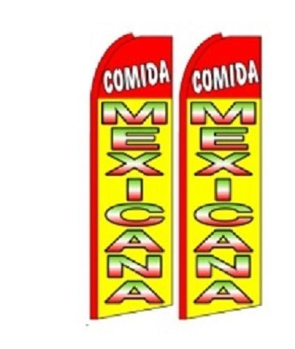 Comida Mexicana King Size Polyester Swooper Flag pk of 2