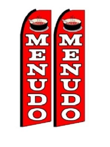 Menudo King Size Polyester Swooper Flag pk of 2