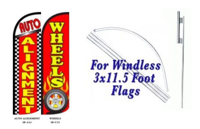 Auto Alignment Wheels  Windless  Swooper Flag With Complete Kit