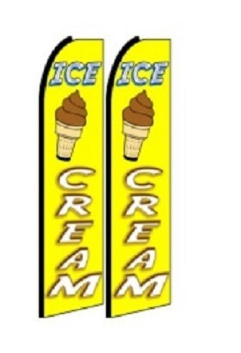 Ice Creme  King Size Polyester Swooper Flag pk of 2