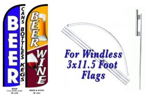 Beer Cans ,Beer Wine Windless  Swooper Flag With Complete Kit