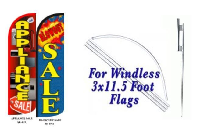 Appliance Sale, Blowout Sale Windless  Swooper Flag With Complete Kit