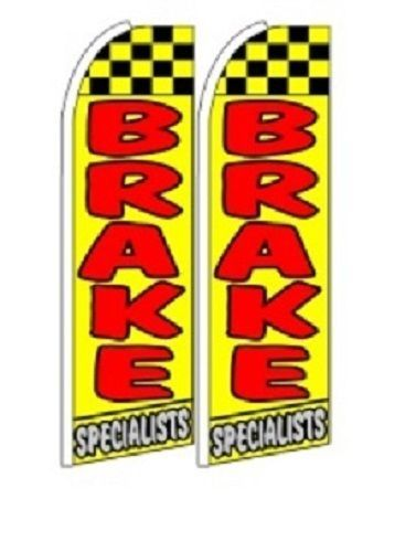 Brake Specialist  King Size Polyester Swooper Flag pk of 2