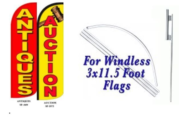 Antiques, Auction Windless  Swooper Flag With Complete Kit
