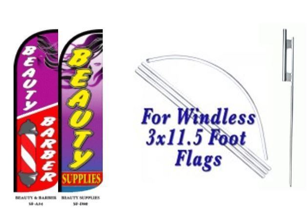 Beauty Barber, Beauty SupplyWindless  Swooper Flag With Complete Kit