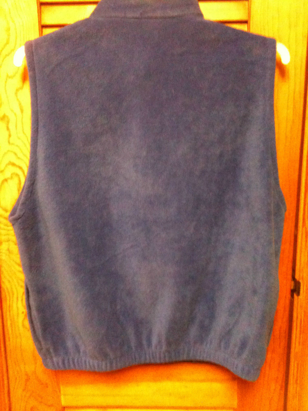 Badger Sport Fleece Zip Front Royal Blue Vest-Size L - Very Nice - Walking Runni