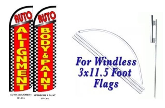 Auto Alignment, Body & paint Windless  Swooper Flag With Complete Kit