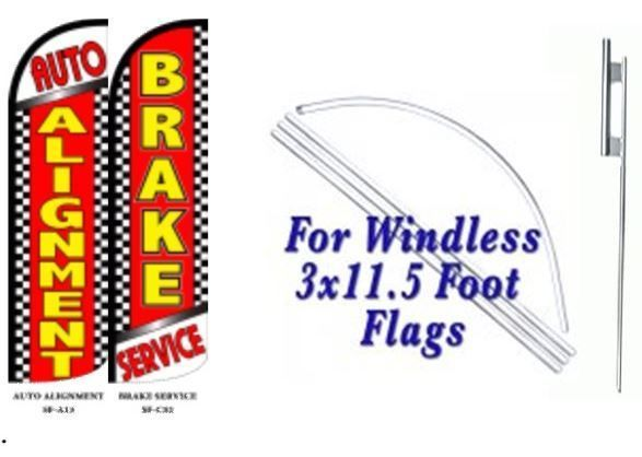 Auto Alignment,Brake Service Windless  Swooper Flag With Complete Kit