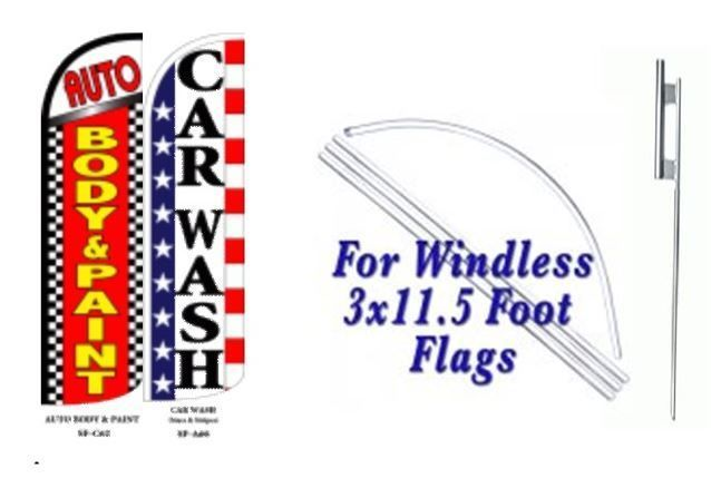 Auto Body & paint, Car Wash Windless  Swooper Flag With Complete Kit