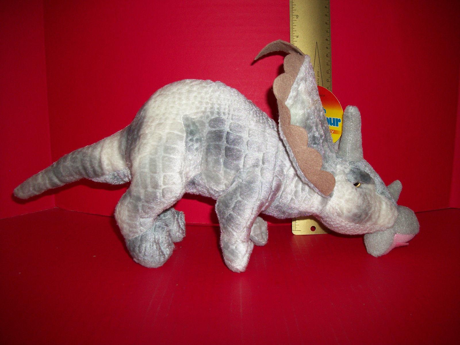 Toy Gift Gray Dinosaur Plush Kids Stuff Prehistoric Soft Body Stuffed Animal New