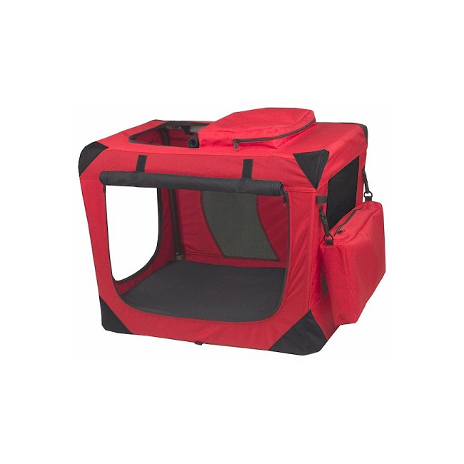 Pet Gear Generation II Deluxe Portable Soft Crate - Small/Red 961-PG5526RP