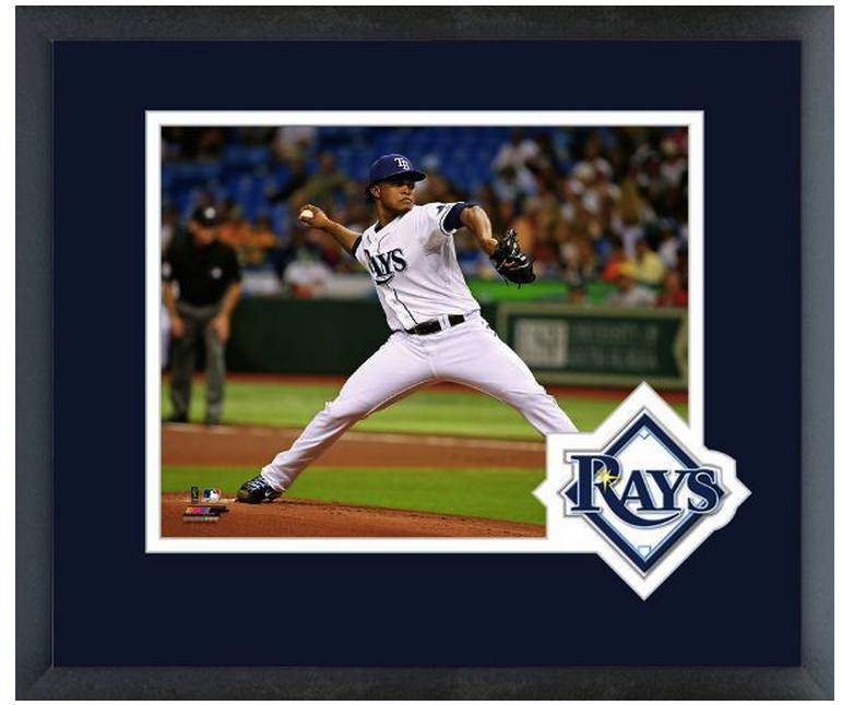 Alex Colome 2013 Tampa Bay Rays - 11 x 14 Team Logo Matted/Framed Photo