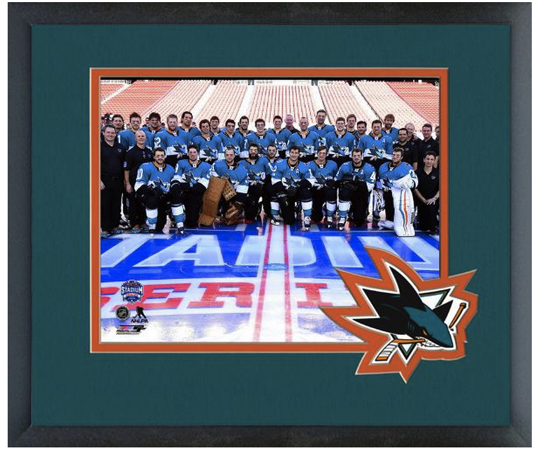 San Jose Sharks 2015 NHL Stadium Series vs L.A. Kings -11x14 Matted/Framed Photo