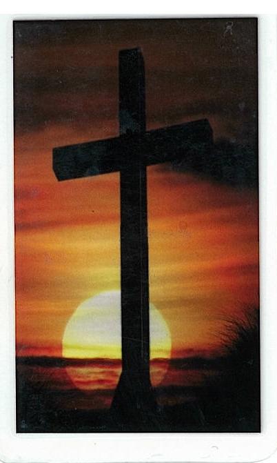 Laminated prayer card   cruz santa 300.0030 001