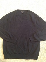 CLUB ROOM 2-PLY 100% ESTATE CASHMERE Men's Sweater Size Large Black NICE... - €28,02 EUR