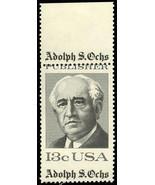 1700 Misperforated ERROR Margin Copy - 13¢ Adolph S. Ochs - Stuart Katz - $39.95