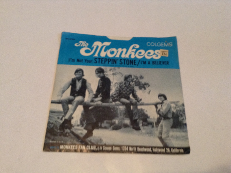 5 45 RPM PICTURE SLEEVES 1950S-1960S
