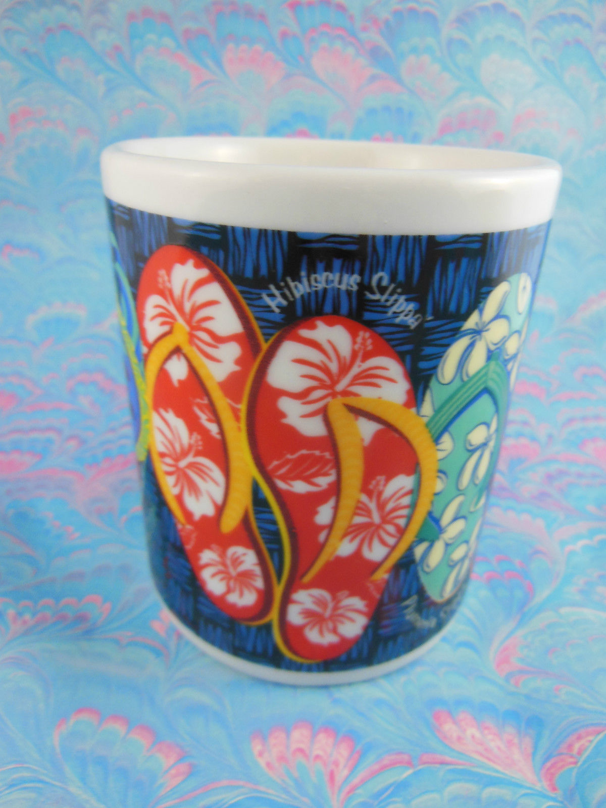 Colorful Flip Flops Slipper Line Coffee Mug Cup The Island Group Hawaii