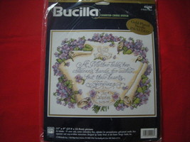 BUCILLA COUNTED CROSS STITCH KIT. A MOTHER'S HEART.  NEW - $30.00