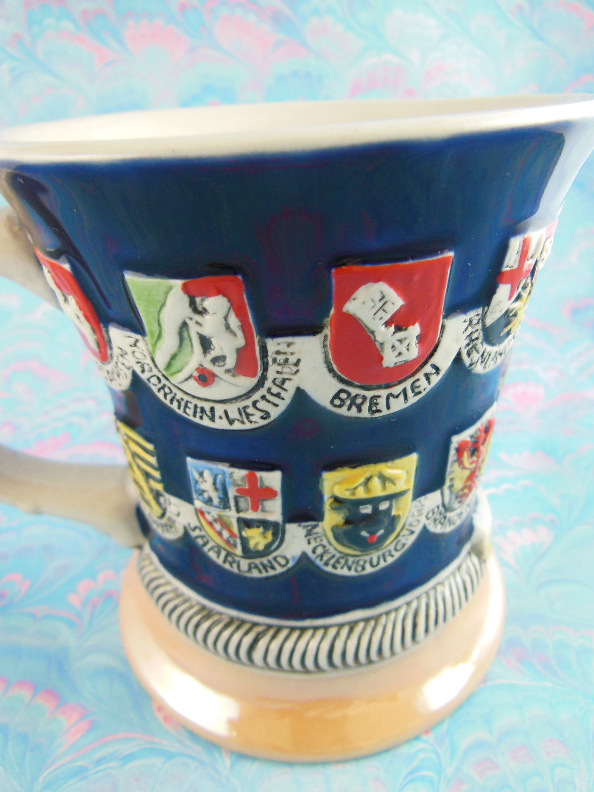 Germany Deutschland Souvenir Coffee or Beer Mug with  Family Crests