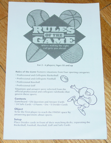RULES OF THE GAME 2000 HASBRO COMPLETE EXCELLENT lightly PLAYED CONDITION