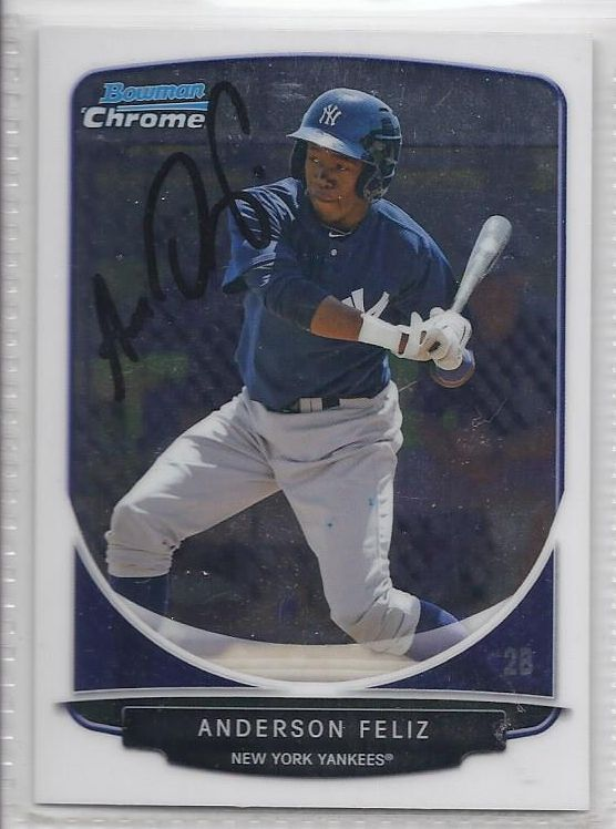 Anderson Feliz signed Autographed Card 2013 Bowman Chrome Prospects